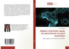 Buchcover von Algèbre matricielle rapide en calcul formel et calcul numérique