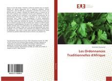 Capa do livro de Les Ordonnances Traditionnelles d'Afrique