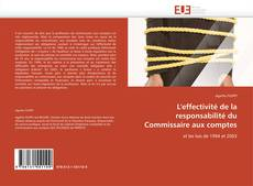 Обложка L'effectivité de la responsabilité du Commissaire aux comptes