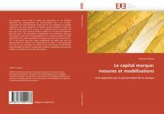 Couverture de Le capital marque:  mesures et modélisations