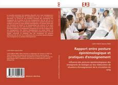 Buchcover von Rapport entre posture épistémologique et pratiques d'enseignement