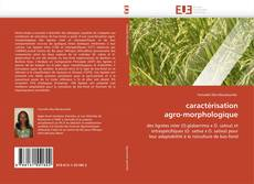 caractérisation  agro-morphologique kitap kapağı