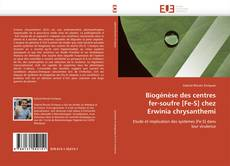 Biogénèse des centres  fer-soufre [Fe-S] chez  Erwinia chrysanthemi kitap kapağı
