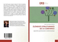 Bookcover of ÉLÉMENTS STRUCTURANTS DE LA CONFIANCE