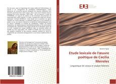 Capa do livro de Etude lexicale de l'œuvre poétique de Cecília Meireles
