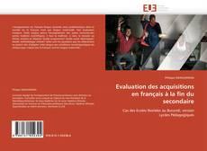 Обложка Evaluation des acquisitions en français à la fin du secondaire