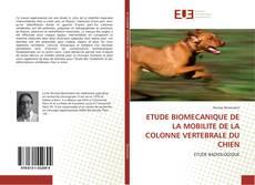 Capa do livro de ETUDE BIOMECANIQUE DE LA MOBILITE DE LA COLONNE VERTEBRALE DU CHIEN