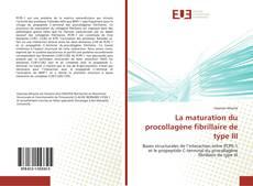 Copertina di La maturation du procollagène fibrillaire de type III