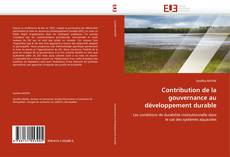 Couverture de Contribution de la gouvernance au développement durable