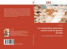 Capa do livro de La conservation préventive comme outil de gestion durable