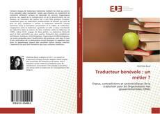 Buchcover von Traducteur bénévole : un métier ?