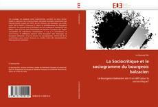Обложка La Sociocritique et le sociogramme du bourgeois balzacien