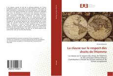 Bookcover of La clause sur le respect des droits de l'Homme