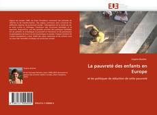 Bookcover of La pauvreté des enfants en Europe