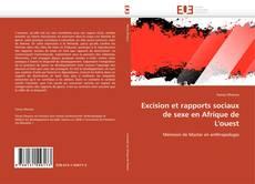 Portada del libro de Excision et rapports sociaux de sexe en Afrique de L'ouest