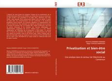 Couverture de Privatisation et bien-être social