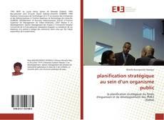 Portada del libro de planification stratégique au sein d'un organisme public
