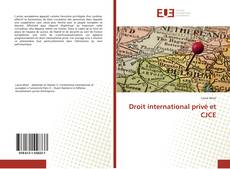 Bookcover of Droit international privé et CJCE