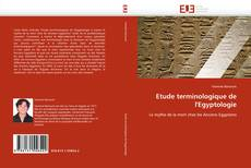 Capa do livro de Etude terminologique de l'Egyptologie