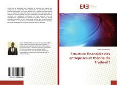 Copertina di Structure financière des entreprises et théorie du Trade-off