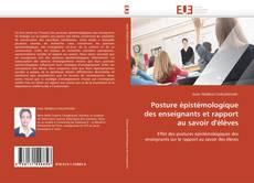 Couverture de Posture épistémologique des enseignants et rapport au savoir d'élèves