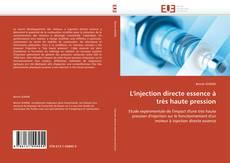 Bookcover of L'injection directe essence à très haute pression