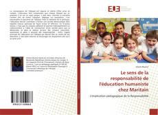 Le sens de la responsabilité de l'éducation humaniste chez Maritain的封面