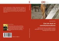 Обложка Etat de droit et constitutionnalisme