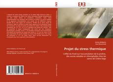 Buchcover von Projet du stress thermique
