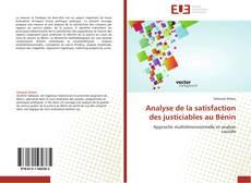Обложка Analyse de la satisfaction des justiciables au Bénin