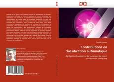 Couverture de Contributions en classification automatique