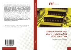 Élaboration de nano-objets cristallins (Si & SiGe) par RTCVD的封面
