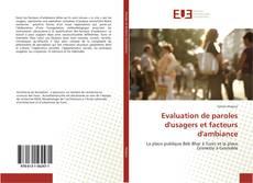 Borítókép a  Evaluation de paroles d'usagers et facteurs d'ambiance - hoz
