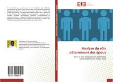 Capa do livro de Analyse du rôle déterminant des époux