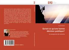 Bookcover of Qu'est-ce qu'une bonne décision publique?