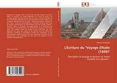 """Portada del libro de L'Ecriture du """"Voyage d'Italie (1606)"""""""