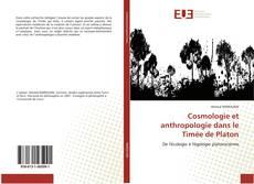 Обложка Cosmologie et anthropologie dans le Timée de Platon