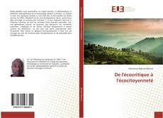 Capa do livro de De l'écocritique à l'écocitoyenneté