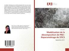 Buchcover von Modélisation de la décomposition de PRO : Reparamétrage de STICS