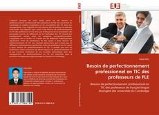 Buchcover von Besoin de perfectionnement professionnel en TIC des professeurs de FLE
