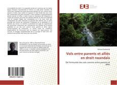 Vols entre parents et alliés en droit rwandais kitap kapağı