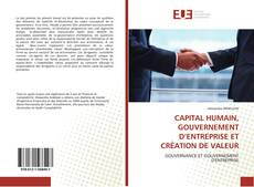 Capa do livro de CAPITAL HUMAIN, GOUVERNEMENT D'ENTREPRISE ET CRÉATION DE VALEUR