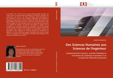 Portada del libro de Des Sciences Humaines aux Sciences de l'Ingénieur