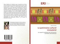 Обложка Le patrimoine culturel immatériel