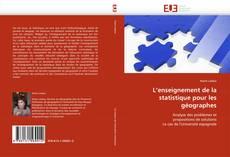 Couverture de L'enseignement de la statistique pour les géographes