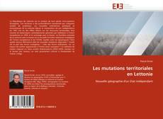 Capa do livro de Les mutations territoriales en Lettonie