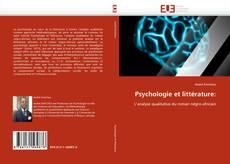 Couverture de Psychologie et littérature: