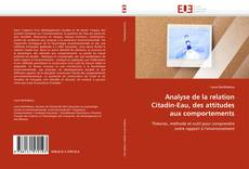 Bookcover of Analyse de la relation Citadin-Eau, des attitudes aux comportements