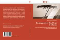 Bookcover of Développement durable et territoires