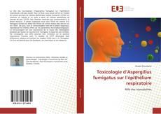 Copertina di Toxicologie d'Aspergillus fumigatus sur l'épithélium respiratoire